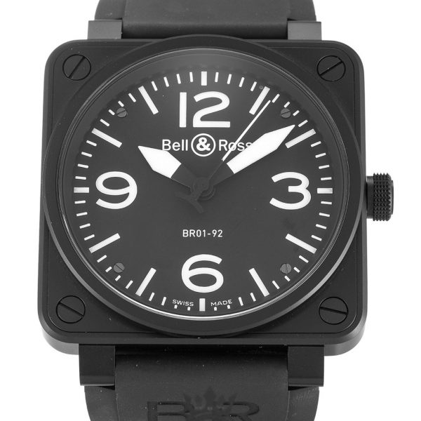 Bell And Ross BR01-92 Replica Carbon Black Dial 46MM