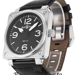 Bell And Ross BR01-92 Replica Steel Black Dial 46MM