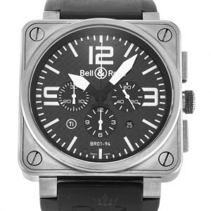 Bell And Ross BR01-94 Chronograph Replica Titanium Black Dial 46MM