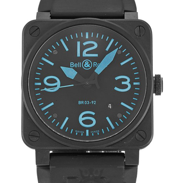 Bell And Ross BR03-92 Replica Carbon Black Dial 42MM
