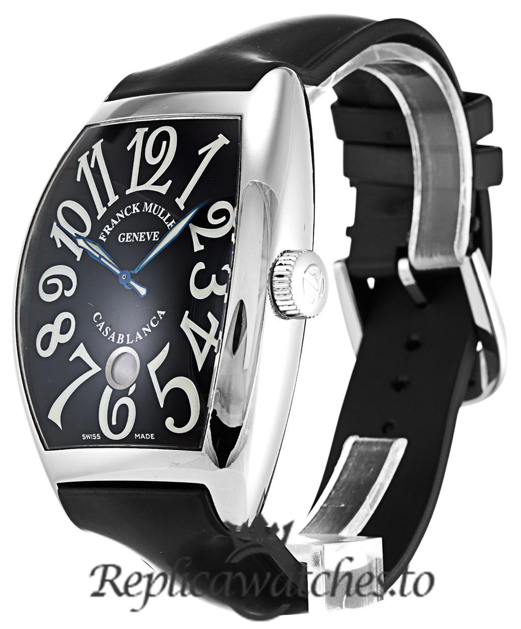 Franck Muller Casablanca Replica 8880 C DT 001 Black Arabic Dial 39MM