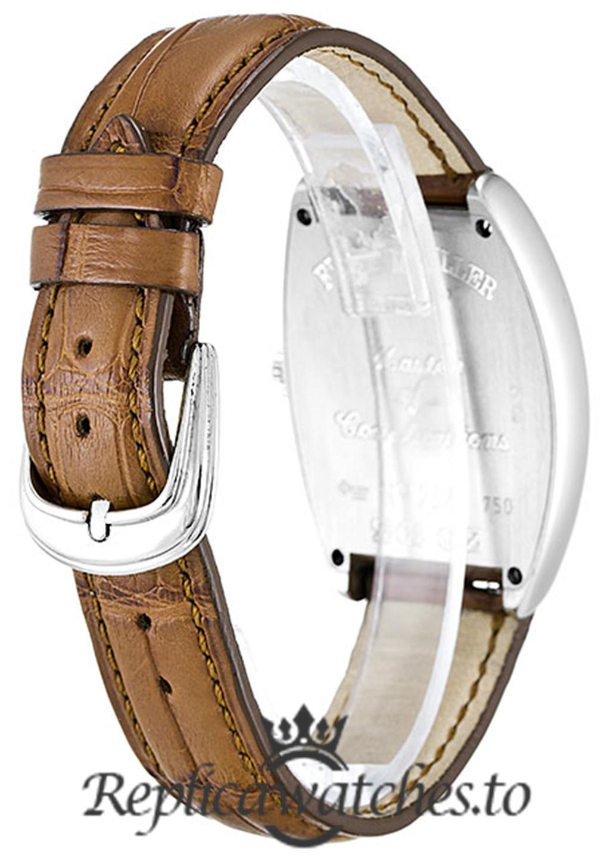 Franck Muller Cintrée Curvex Replica 7502 QZ Silver Arabic Dial 28MM