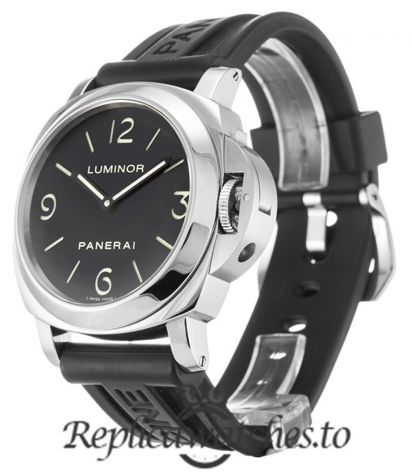 Panerai Luminor Base Replica PAM00002 001 Black Quarter Arabic Dial 44MM