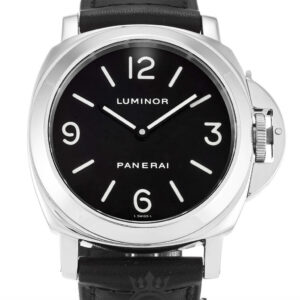 Panerai Luminor Base Replica PAM00002 Black Quarter Arabic Dial 44MM