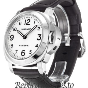 Panerai Luminor Base Replica PAM00114 White Arabic Dial 44MM