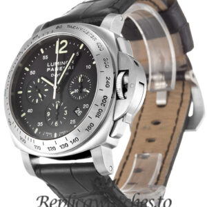 Panerai Luminor Chrono Replica PAM00250 Black Dial 44MM
