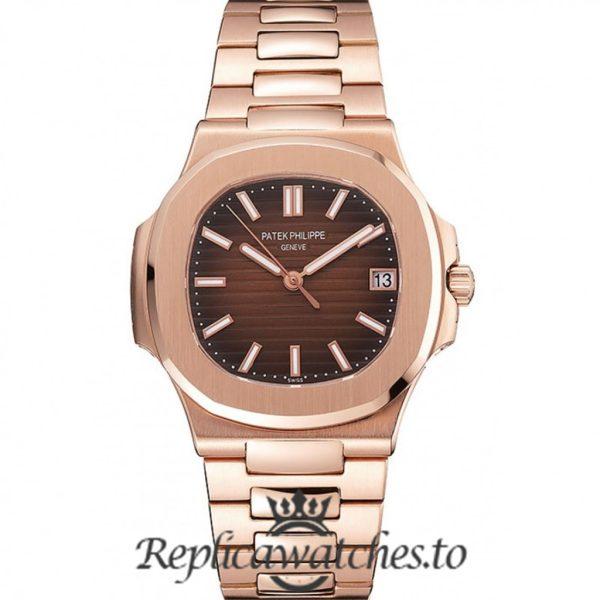 Patek Philippe Nautilus Replica 1453949 Brown Dial 38MM