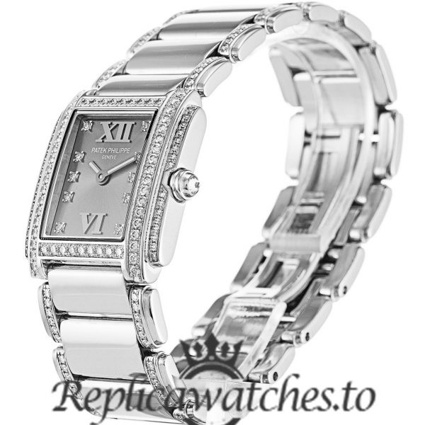 Patek Philippe Twenty-4 Replica 4908/310G Grey Diamond Dial 22.8MM