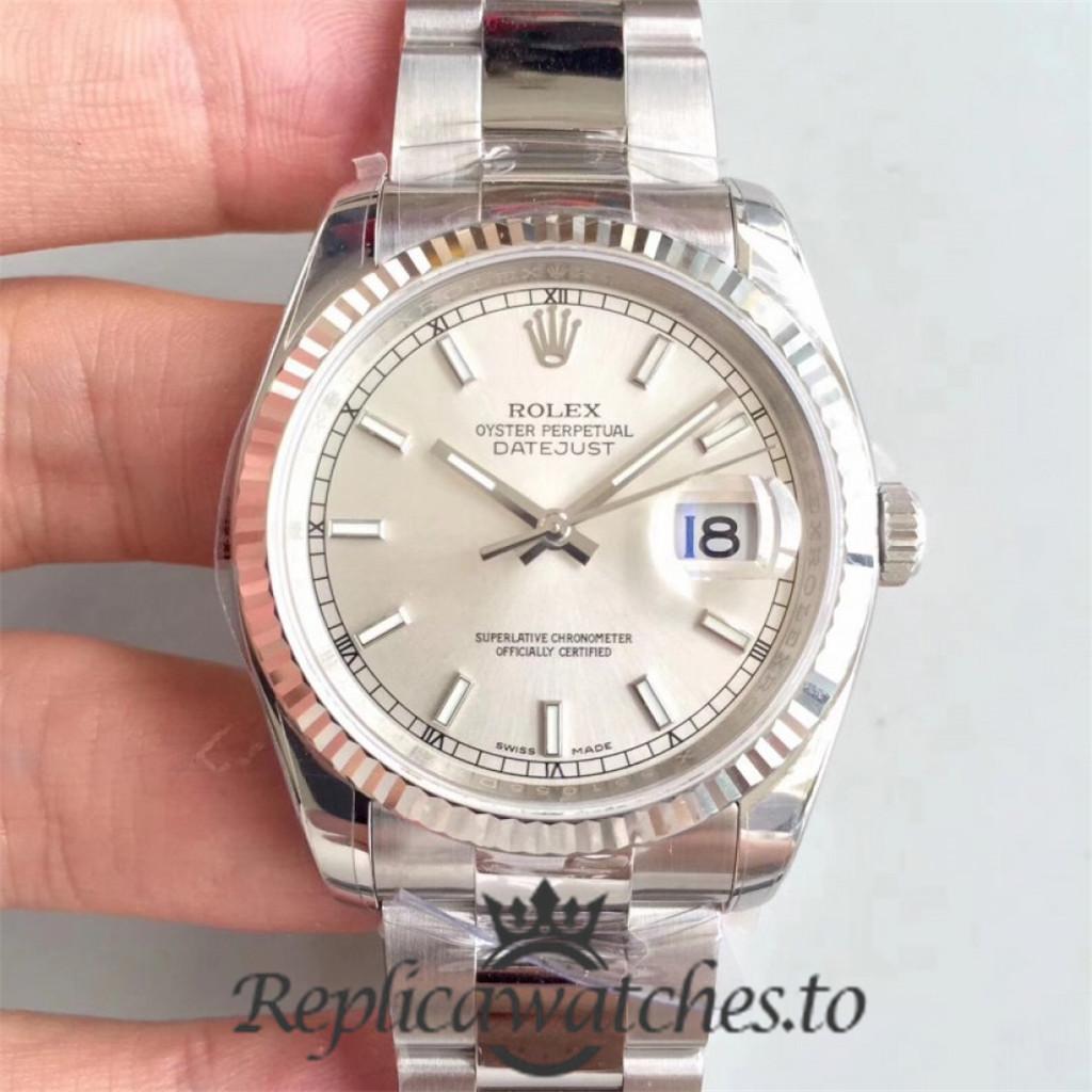 Swiss Rolex Datejust Replica 126334 015 Stainless Steel 904L Bracelet Automatic 41mm