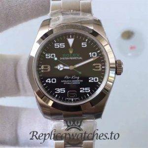 Swiss Rolex Air-King Replica 116900 Black Dial Automatic Movement 40MM