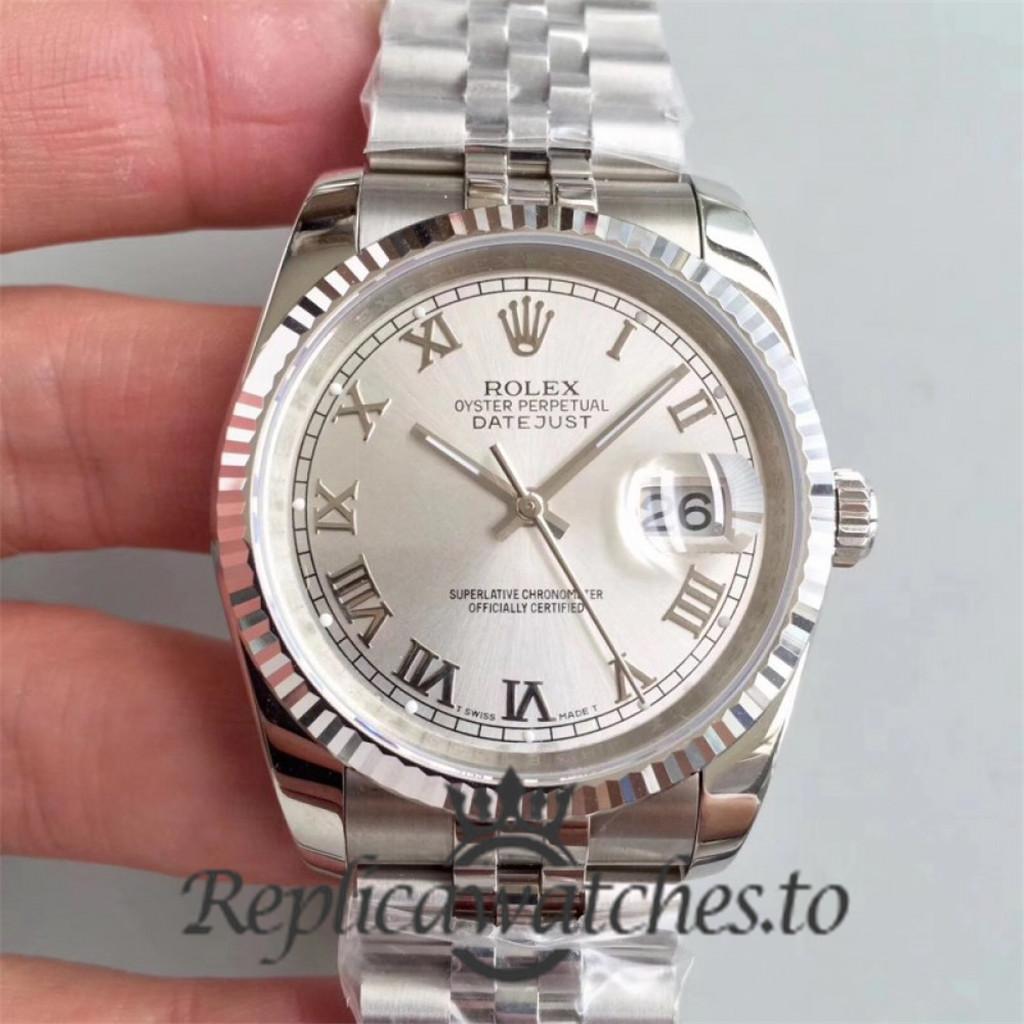 Swiss Rolex Datejust Replica 116234 001 Stainless Steel 904L Bracelet Automatic 36MM