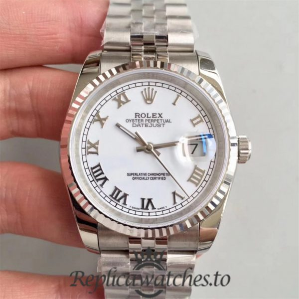 Swiss Rolex Datejust Replica 116234 006 Stainless Steel 904L Bracelet Automatic 36mm