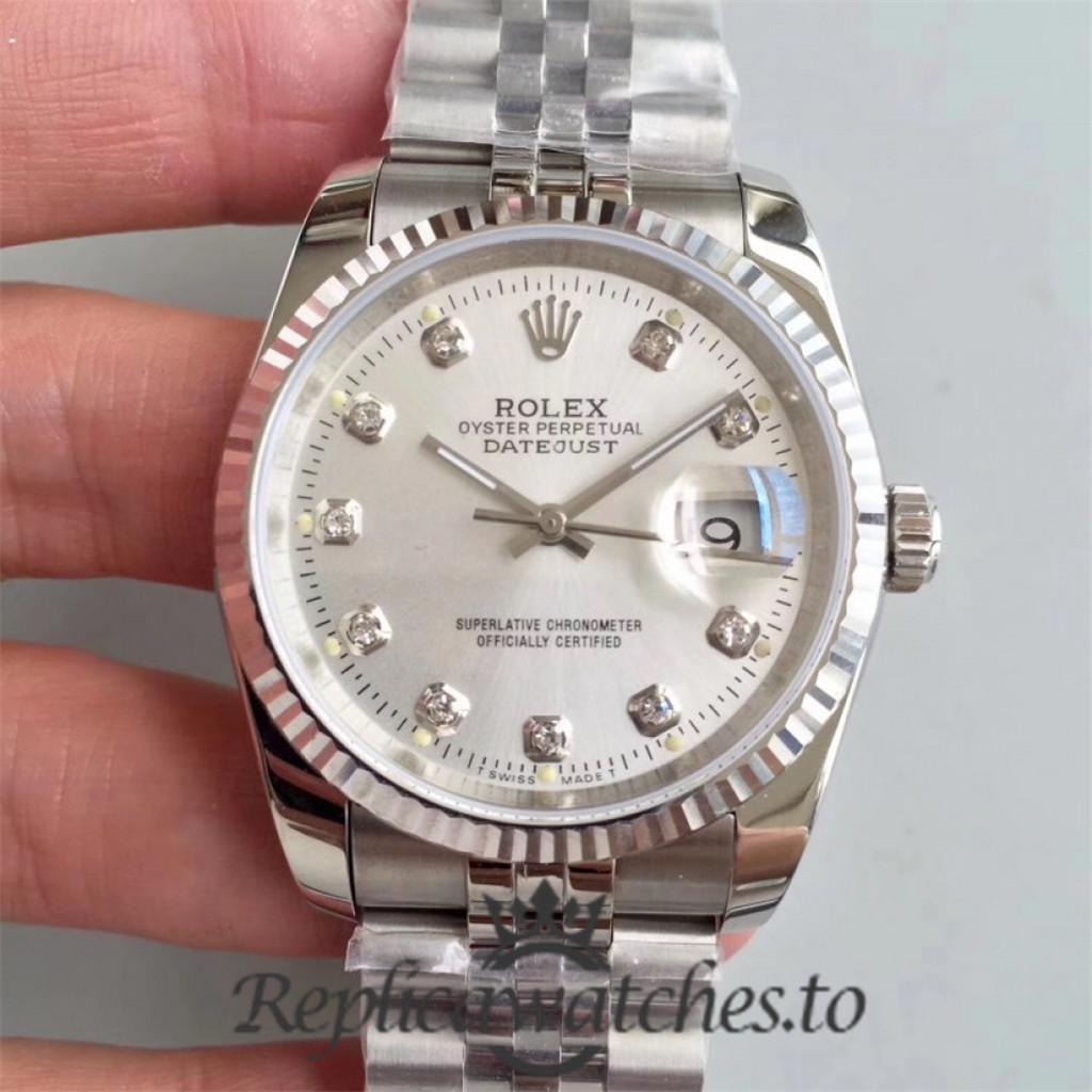 Swiss Rolex Datejust Replica 116234 011 Stainless Steel 904L Bracelet Automatic 36MM