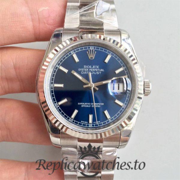 Swiss Rolex Datejust Replica 116234 012 Stainless Steel 904L Bracelet Automatic 36MM