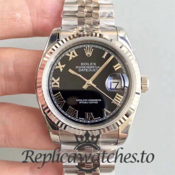 Swiss Rolex Datejust Replica 116234 Stainless Steel 904L Bracelet Automatic 36 mm