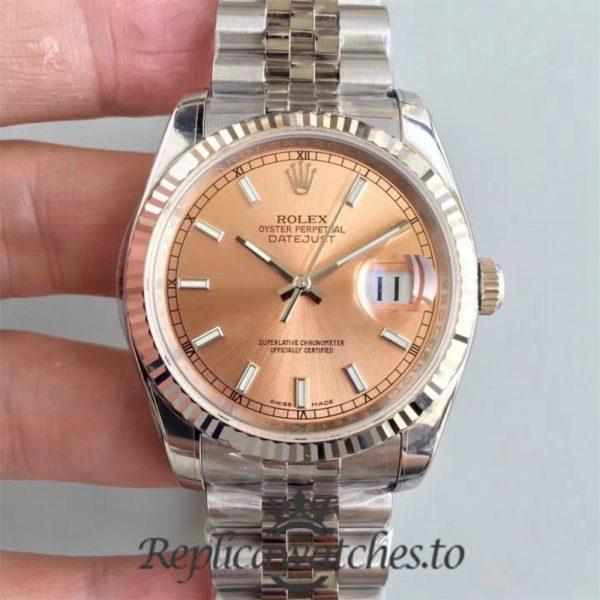 Swiss Rolex Datejust Replica 116234 AR Stainless Steel 904L Bracelet Automatic 36mm