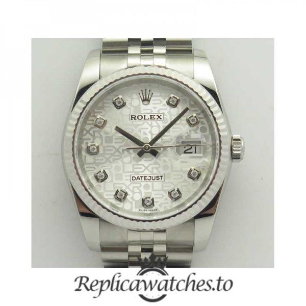 Swiss Rolex Datejust Replica 116234 DJ 003 Stainless Steel 410L Bracelet Automatic 36mm