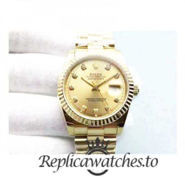 Swiss Rolex Datejust Replica 116238 18K Yellow Gold Bracelet Automatic 36 mm