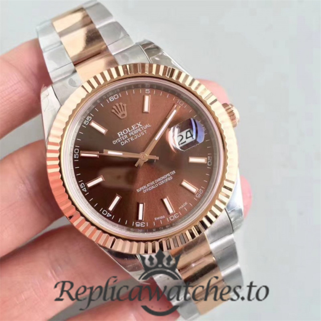 Swiss Rolex Datejust Replica 116333 006 Stainless Steel 410L and 18K Rose Gold Bracelet Automatic 41 mm