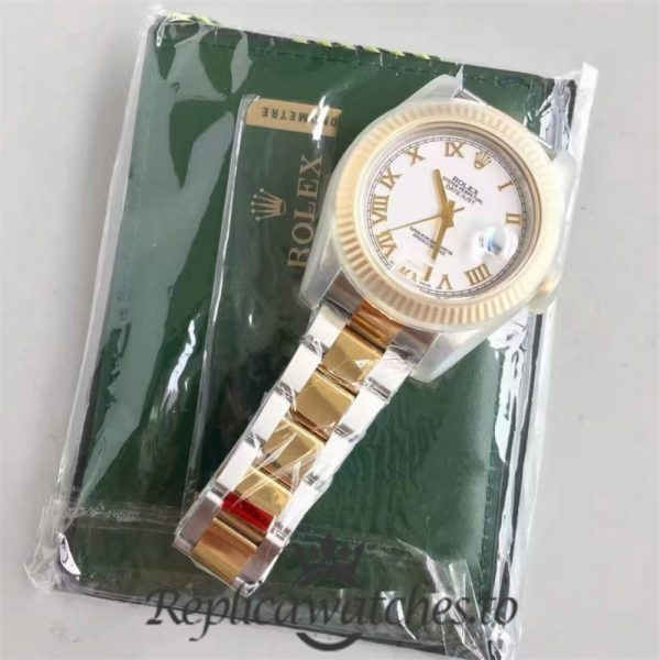 Swiss Rolex Datejust Replica 116333 007 Stainless Steel 410L and 18K Yellow Gold Bracelet Automatic 41mm