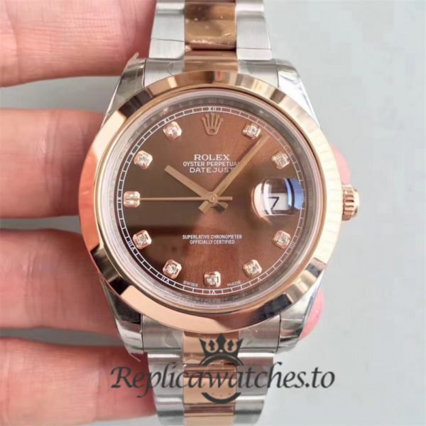 Swiss Rolex Datejust Replica 116333 010 Stainless Steel 410L and 18K Rose Gold Bracelet Automatic 41 mm
