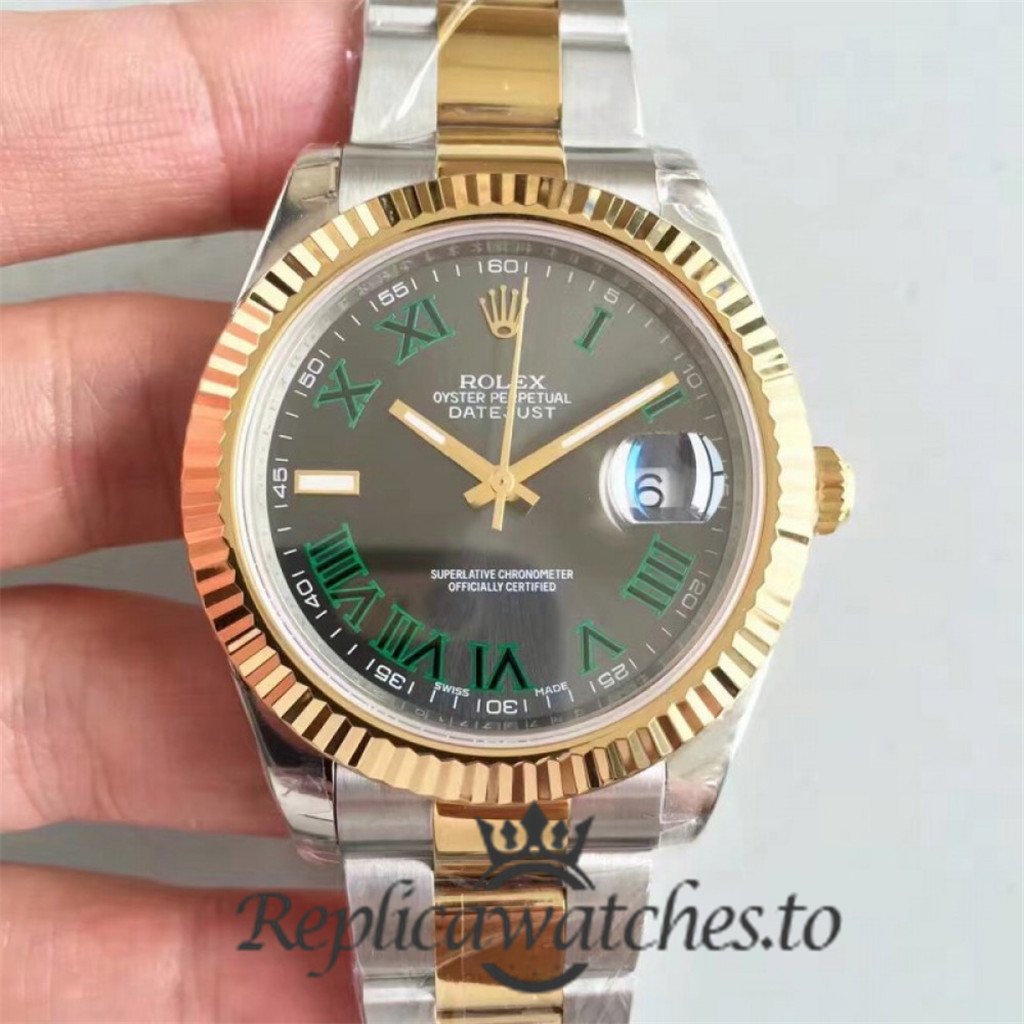 Swiss Rolex Datejust Replica 116333 012 Stainless Steel 410L and 18K Yellow Gold Bracelet Automatic 41mm
