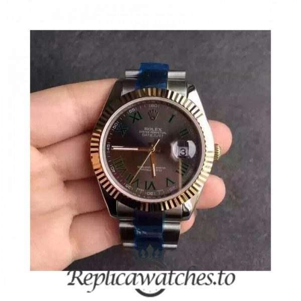 Swiss Rolex Datejust Replica 116333 015 Stainless Steel 410L and 18K Yellow Gold Bracelet Automatic 41mm