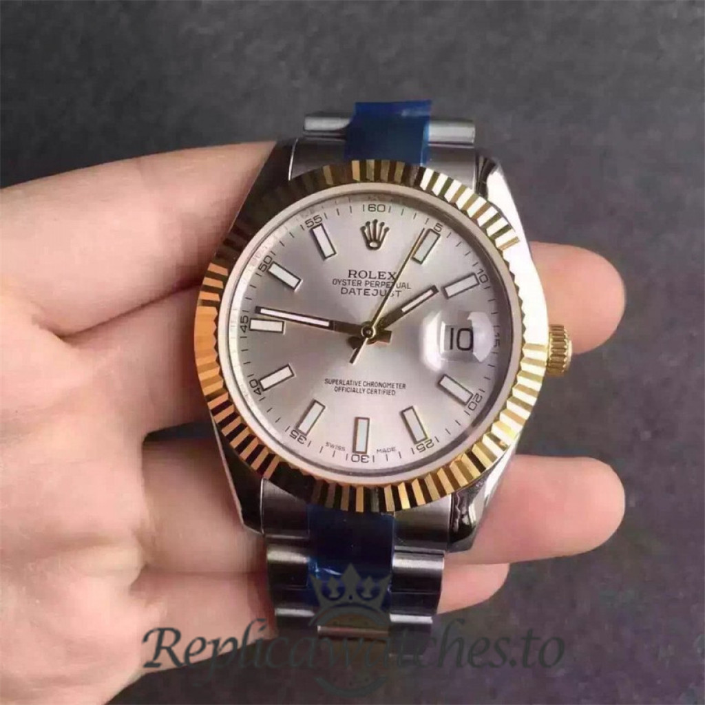 Swiss Rolex Datejust Replica 116333 019 Stainless Steel 410L and 18K Yellow Gold Automatic 41MM