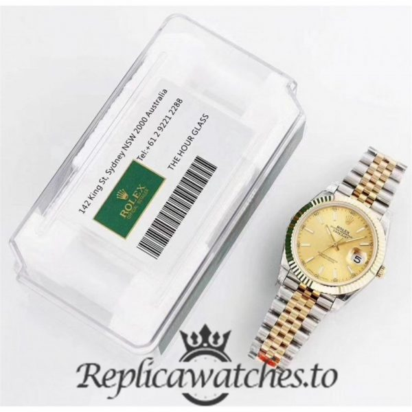 Swiss Rolex Datejust Replica 116333 021 Stainless Steel 410L and 18K Yellow Gold Bracelet Automatic 41MM