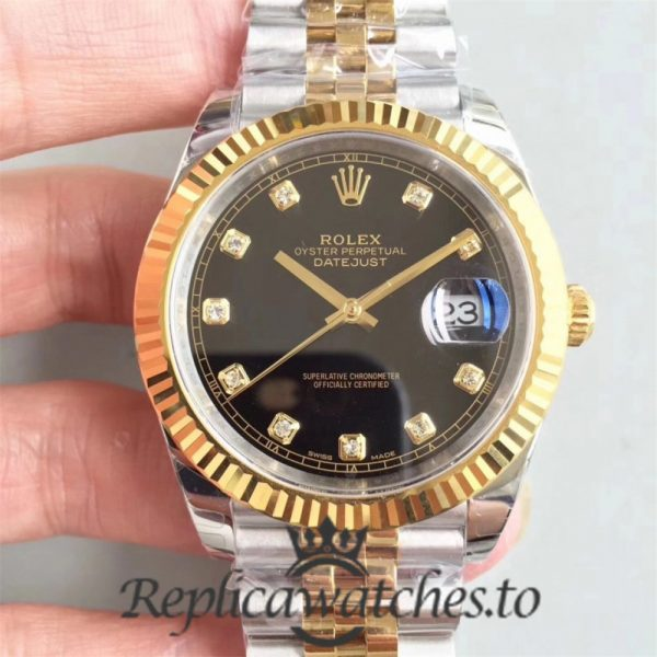 Swiss Rolex Datejust Replica 116333 Stainless Steel 410L And 18K Yellow Gold Strap Automatic 41MM
