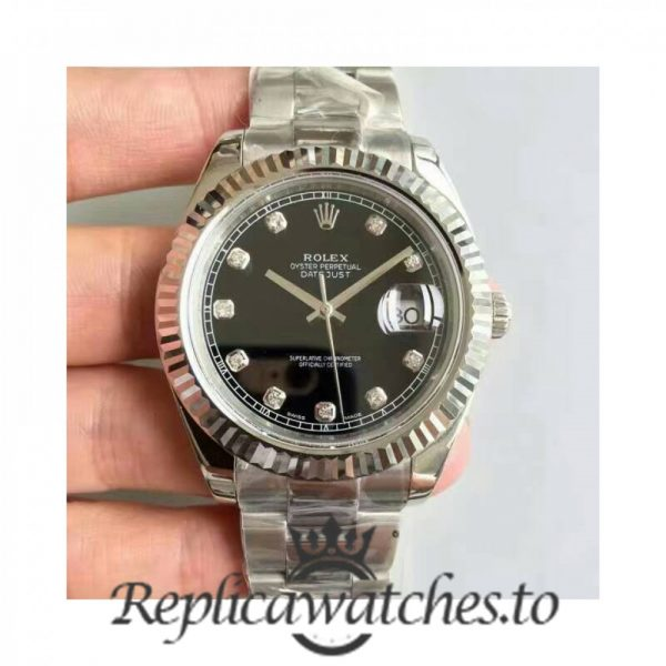 Swiss Rolex Datejust Replica 116334 004 Stainless Steel 410L Bracelet Automatic 41MM