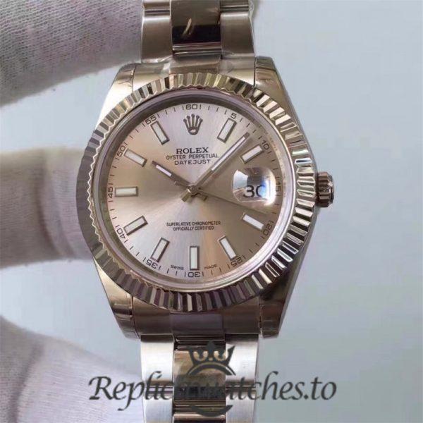 Swiss Rolex Datejust Replica 116334 005 Stainless Steel 410L Bracelet Automatic 41MM