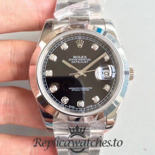 Swiss Rolex Datejust Replica 126300 001 Stainless Steel 410L Bracelet Automatic 41mm