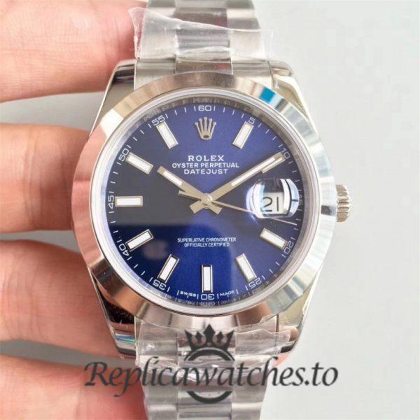 Swiss Rolex Datejust Replica 126300 Stainless Steel 410L Bracelet Automatic 41mm
