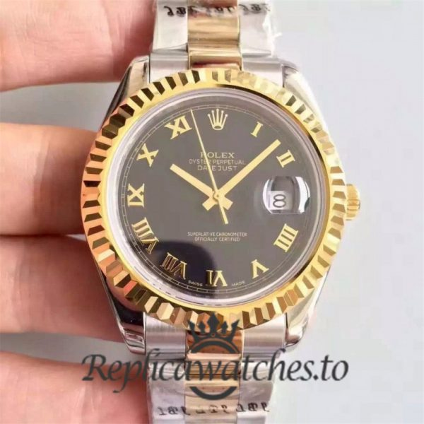 Swiss Rolex Datejust Replica 126333 001 Stainless Steel 410L and 18K Yellow Gold Bracelet Automatic 41 mm
