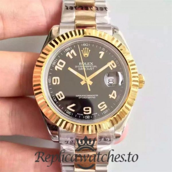 Swiss Rolex Datejust Replica 126333 002 Stainless Steel 410L and 18K Yellow Gold Bracelet Automatic 41 mm