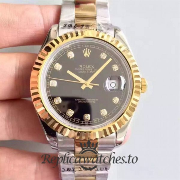 Swiss Rolex Datejust Replica 126333 004 Stainless Steel 410L and 18K Yellow Gold Bracelet Automatic 41mm