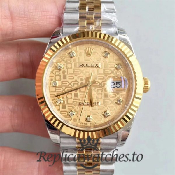 Swiss Rolex Datejust Replica 126333 006 Stainless Steel 410L and 18K Yellow Gold Bracelet Automatic 41mm