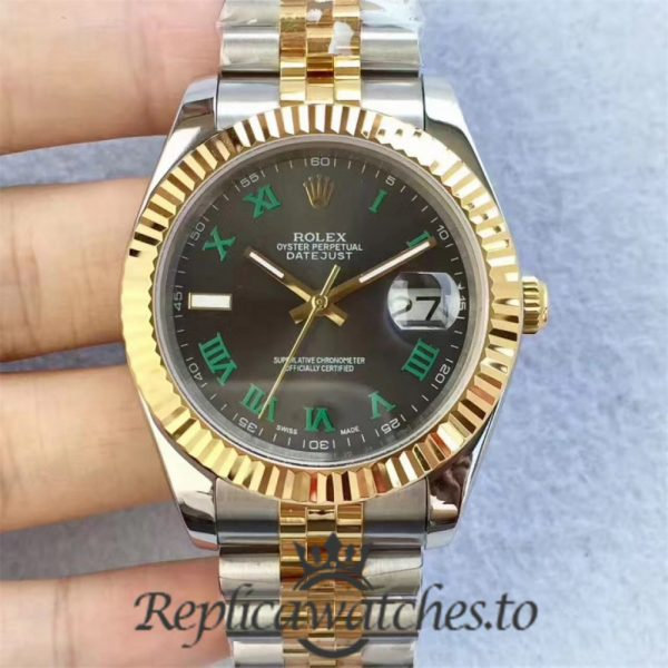 Swiss Rolex Datejust Replica 126333 007 Stainless Steel 410L and 18K Yellow Gold Bracelet Automatic 41mm