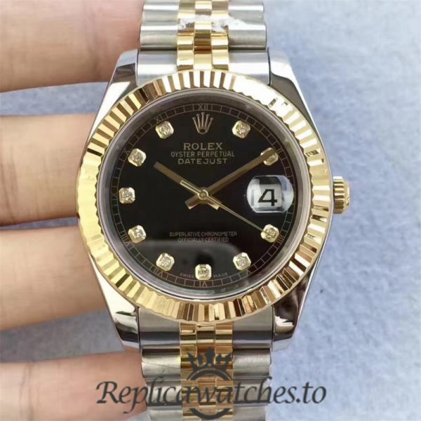 Swiss Rolex Datejust Replica 126333 010 Stainless Steel 410L and 18K Yellow Gold Bracelet Automatic 41mm