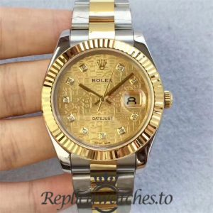 Swiss Rolex Datejust Replica 126333 011 Stainless Steel 410L and 18K Yellow Gold Bracelet Automatic 41MM