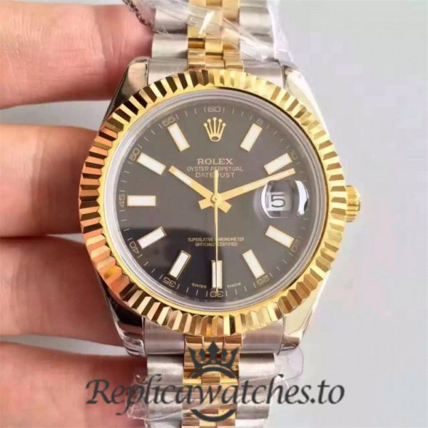 Swiss Rolex Datejust Replica 126333 012 Stainless Steel 410L and 18K Yellow Gold Bracelet Automatic 41MM
