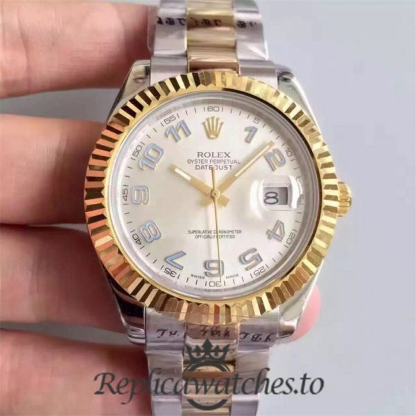 Swiss Rolex Datejust Replica 126333 013 Stainless Steel 410L and 18K Yellow Gold Bracelet Automatic 41MM