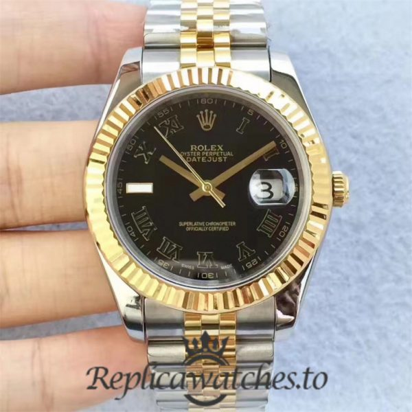 Swiss Rolex Datejust Replica 126333 014 Stainless Steel 410L and 18K Yellow Gold Bracelet Automatic 41MM