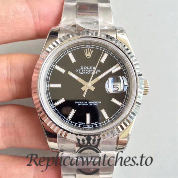 Swiss Rolex Datejust Replica 126334 004 Stainless Steel 410L Bracelet Automatic 41 mm