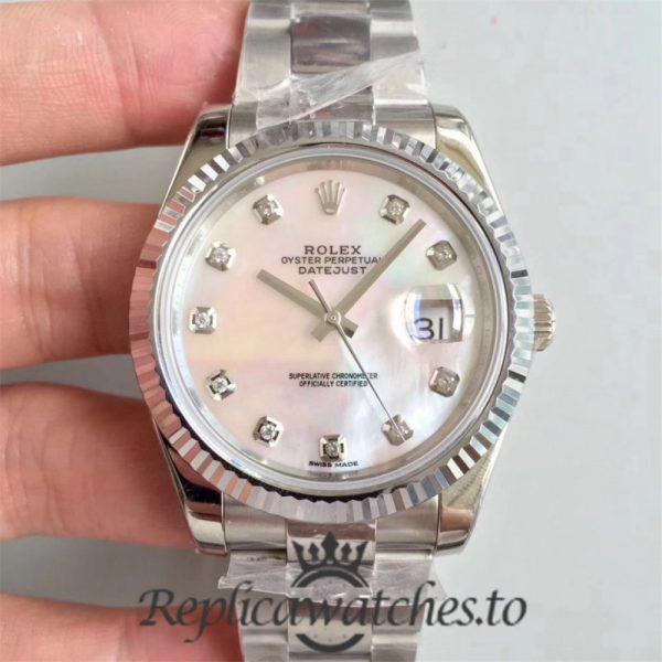 Swiss Rolex Datejust Replica 126334 006 Stainless Steel 410L Bracelet Automatic 41 mm