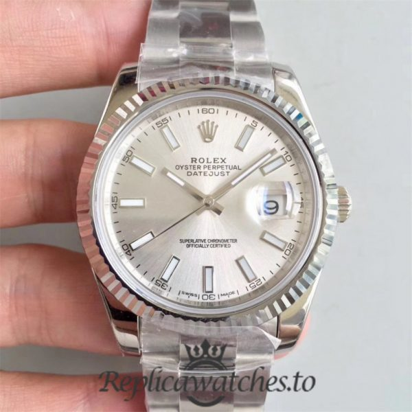 Swiss Rolex Datejust Replica 126334 008 Stainless Steel 410L Bracelet Automatic 41mm