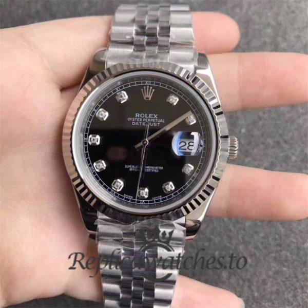 Swiss Rolex Datejust Replica 126334 009 Stainless Steel 410L Bracelet Automatic 41mm