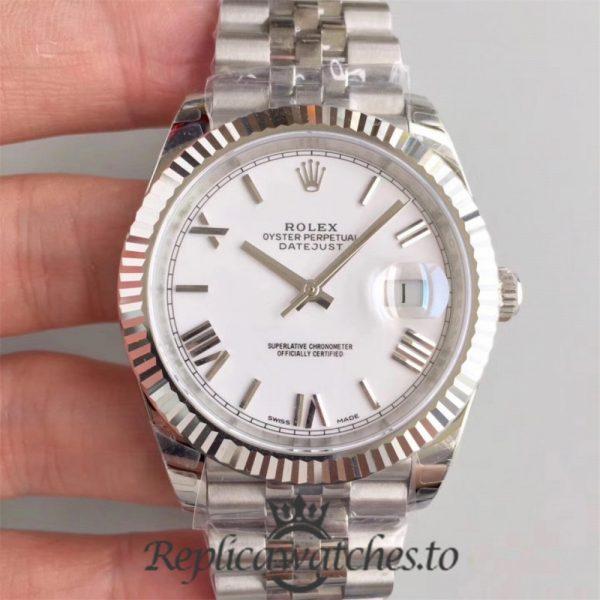 Swiss Rolex Datejust Replica 126334 010 Stainless Steel 410L Bracelet Automatic 41mm