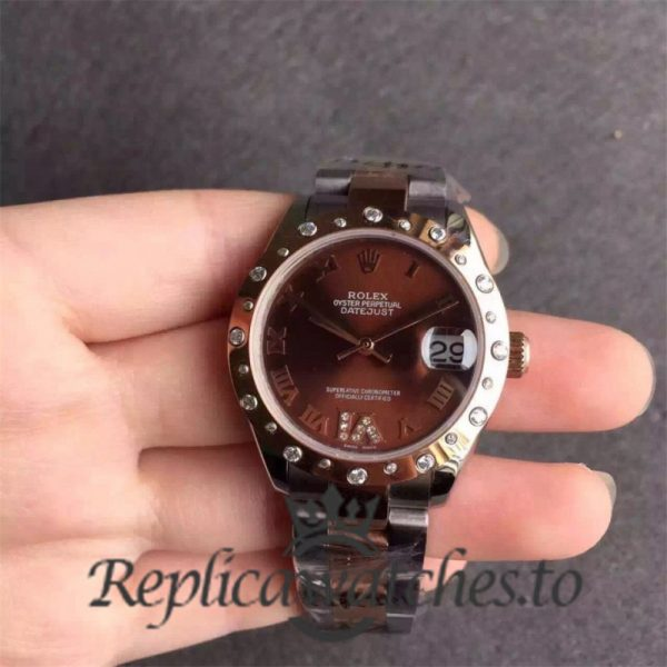 Swiss Rolex Datejust Replica 178341 001 Stainless Steel 410L and 18K Rose Gold Bracelet Automatic 31 mm
